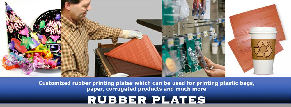 RUBBER PRINTING PLATES